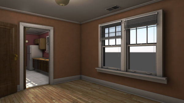 3d model interior apartment