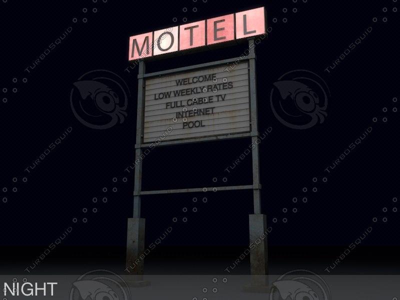 3ds motel old sign