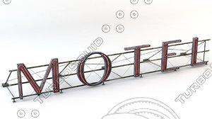 3d neon sign model