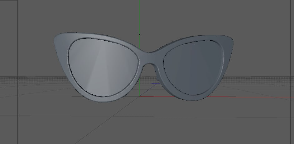 3d woman glasses model