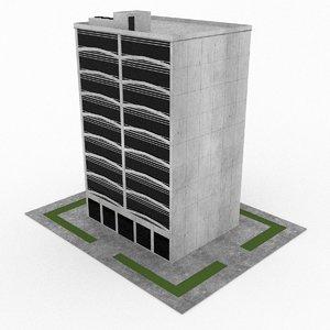 office build 02 3d 3ds