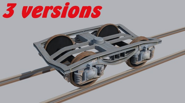 3d bogie y25 bogey cargo model