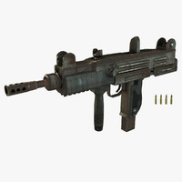 3d uzi submachine gun model