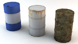 3d barrel rusty used