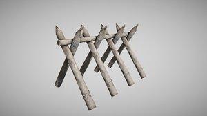 wooden barricade x