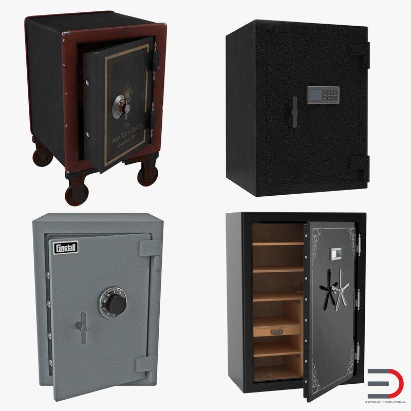 safes set gardall 3d model