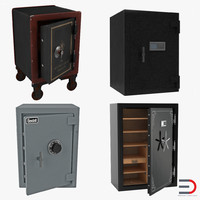 safes set gardall 3d model