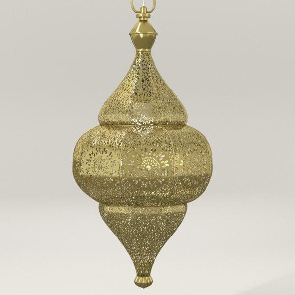 3d moroccan lamp taj