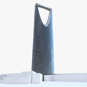 kingdom centre tower riyadh 3d max