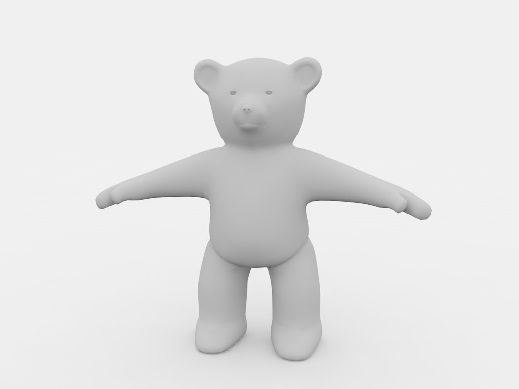 3d generic character cartoon model