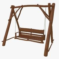 3d garden swing model
