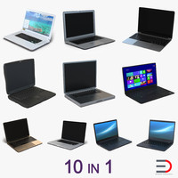 Generic Laptops 3D models Collection