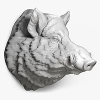 Wild Boar Head Sculpture