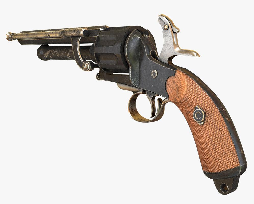 le mat revolver 3d model
