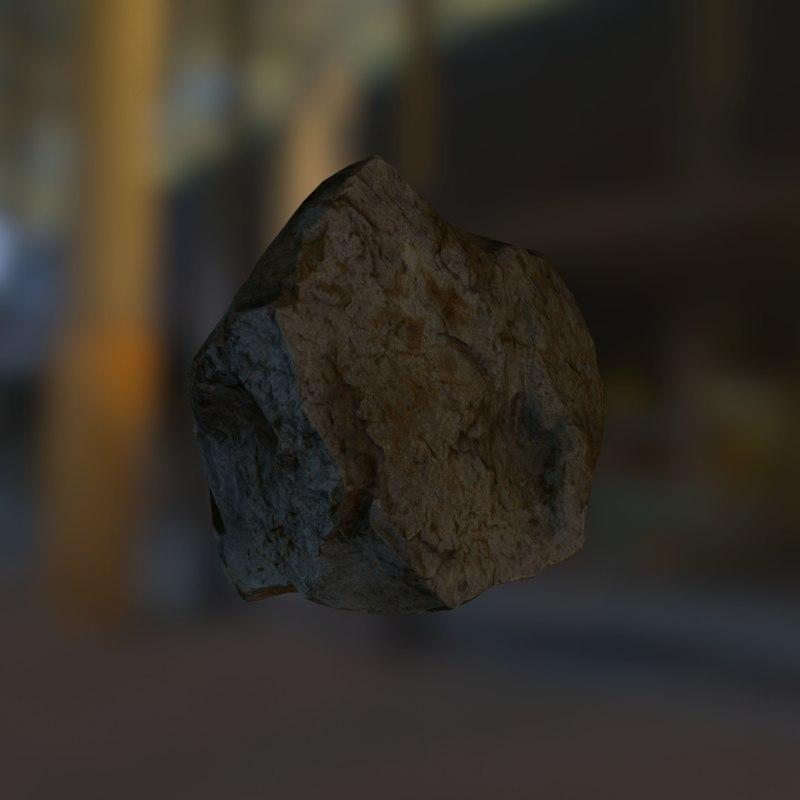 rock 3d fbx