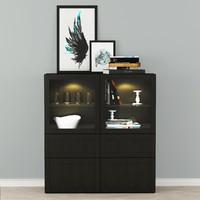 display cabinets ikea besta 3d max