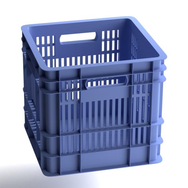 3d crate israel blue