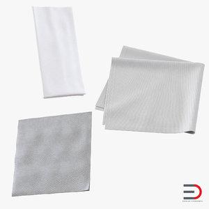 3d model napkins set white