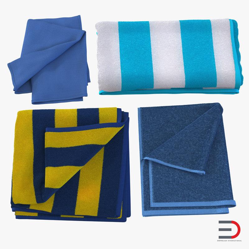 3d towels 2 model