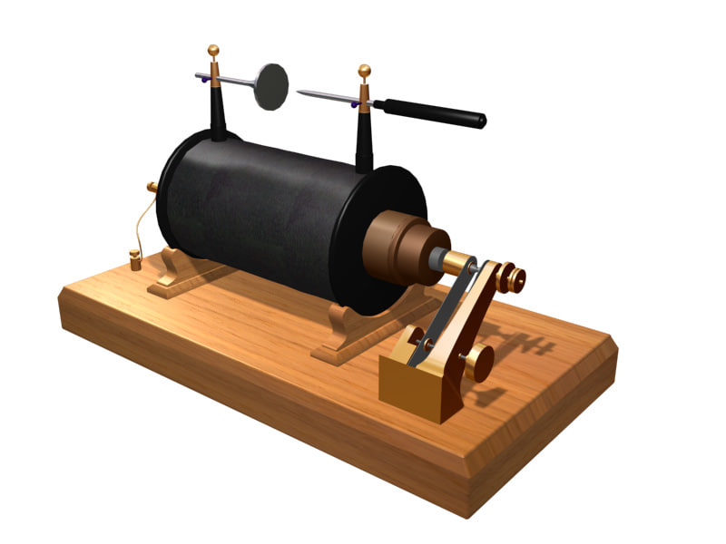 3d model of ruhmkorff coil