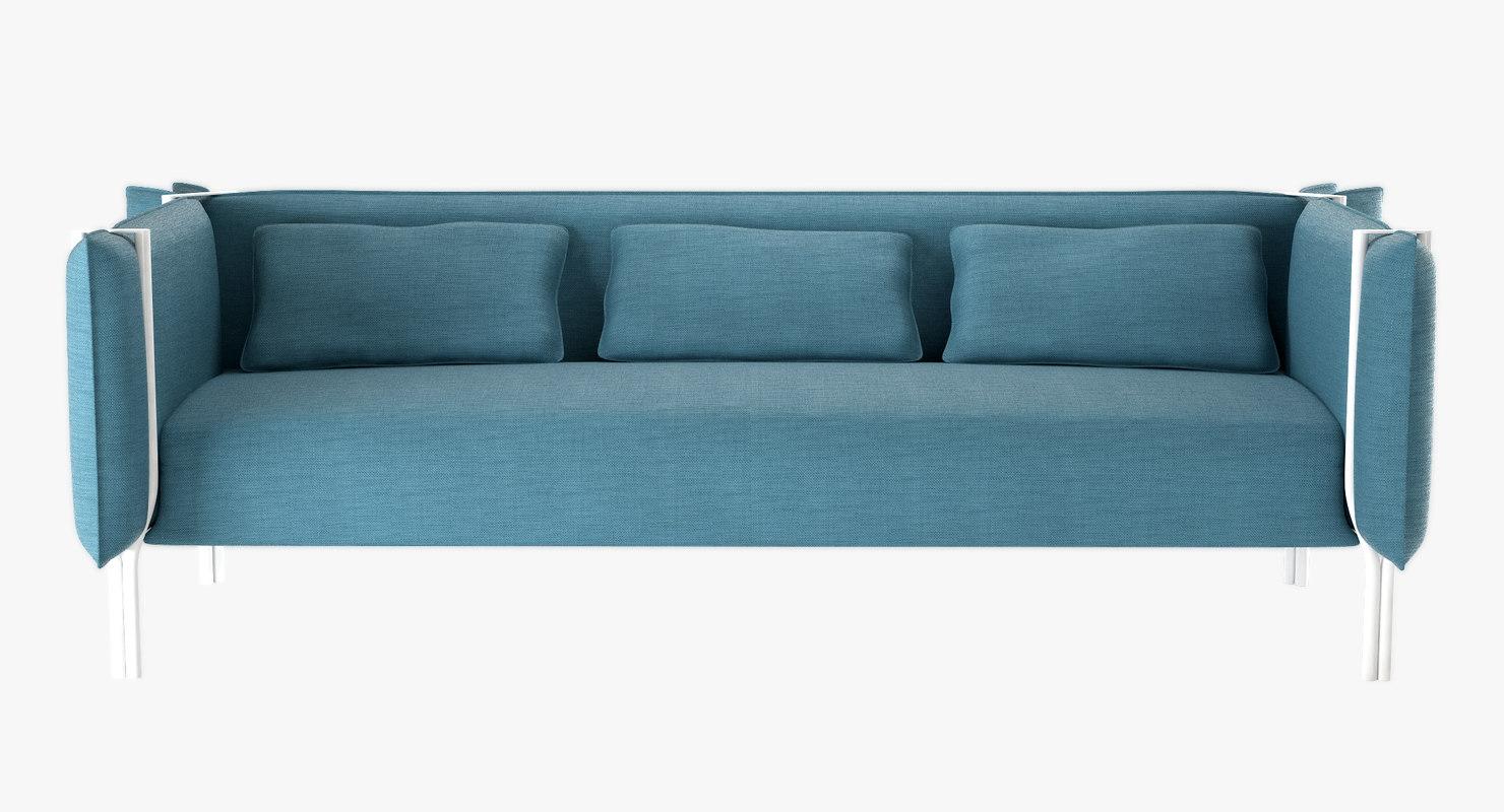 3d model sofa pinch la cividina