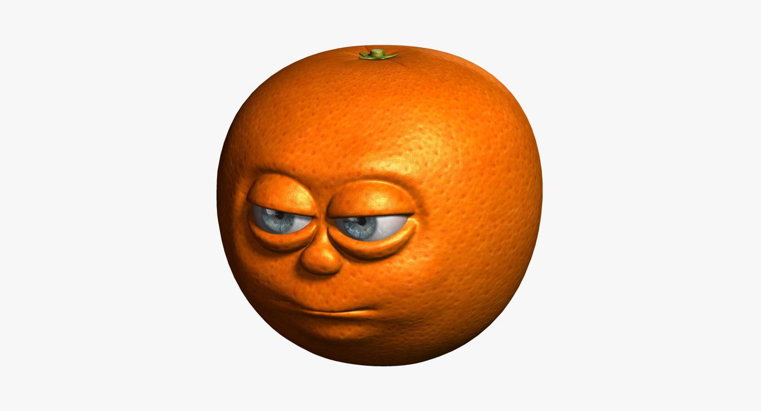 3d model orange cartoon