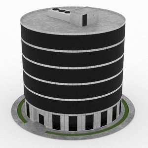 office build 04 3d model