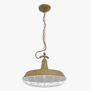 3d scandinavian loft khaki chandelier