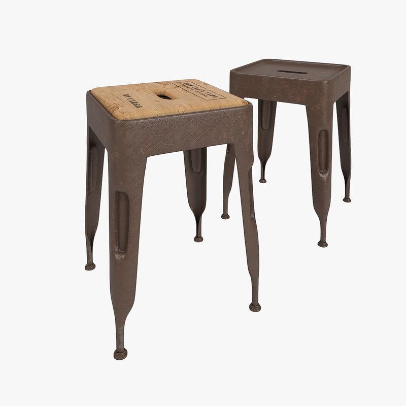3d model of industrial stool cargo
