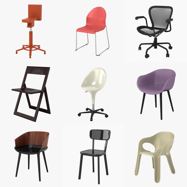 magis chairs 3d model