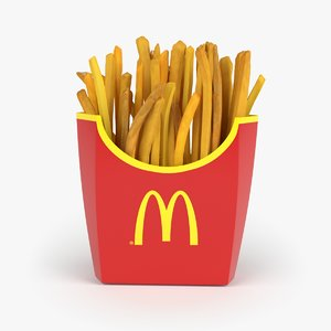 french fries 3d c4d