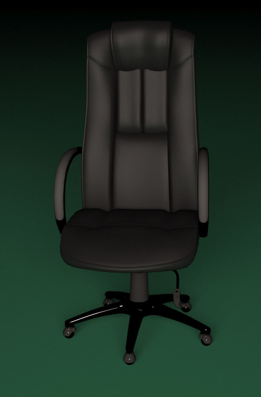 3d leather office chair model