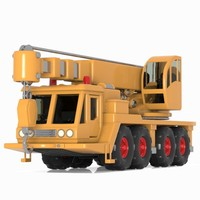 3d model mobile crane toon