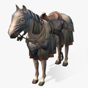 medieval horse 02 3d max