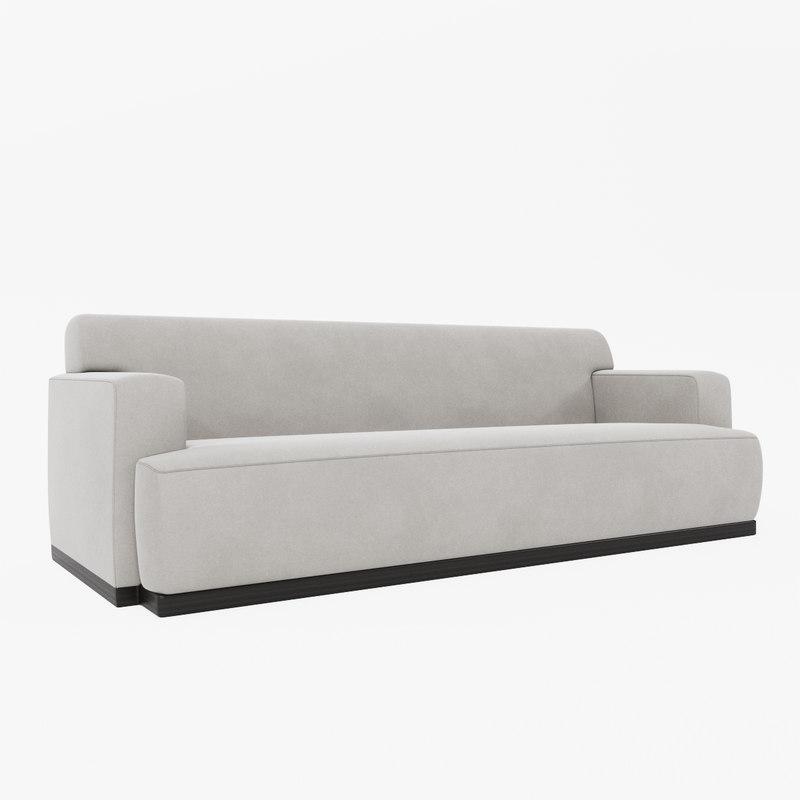3d louise bradley oxford sofa model