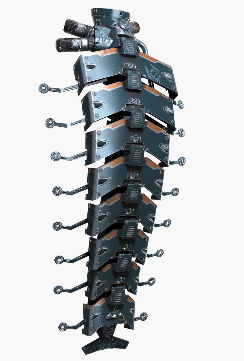 alien augmentation implant 3d max