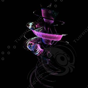 3d magic flower model