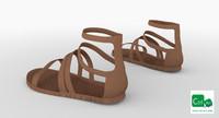 roman women sandals 3d model