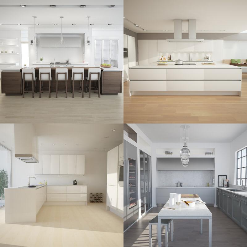3d kitchen scenes model