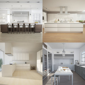 3d kitchen scenes