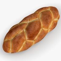 baked loaf 3d model