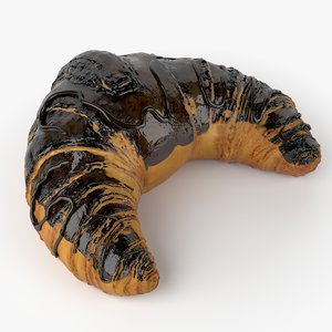 3d model croissant real realistic
