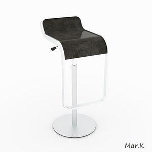 3d model chair bar la-palma