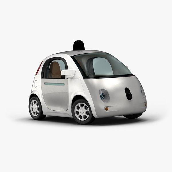 3d 2016 google self-driving car interior
