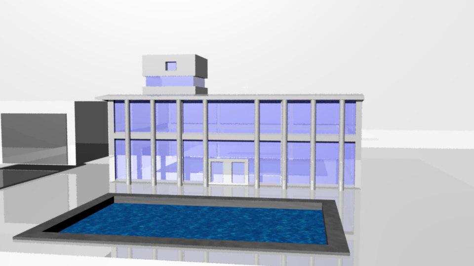 free pent house 3d model