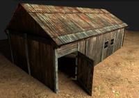 3d old barn