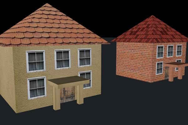 3d house polygonal