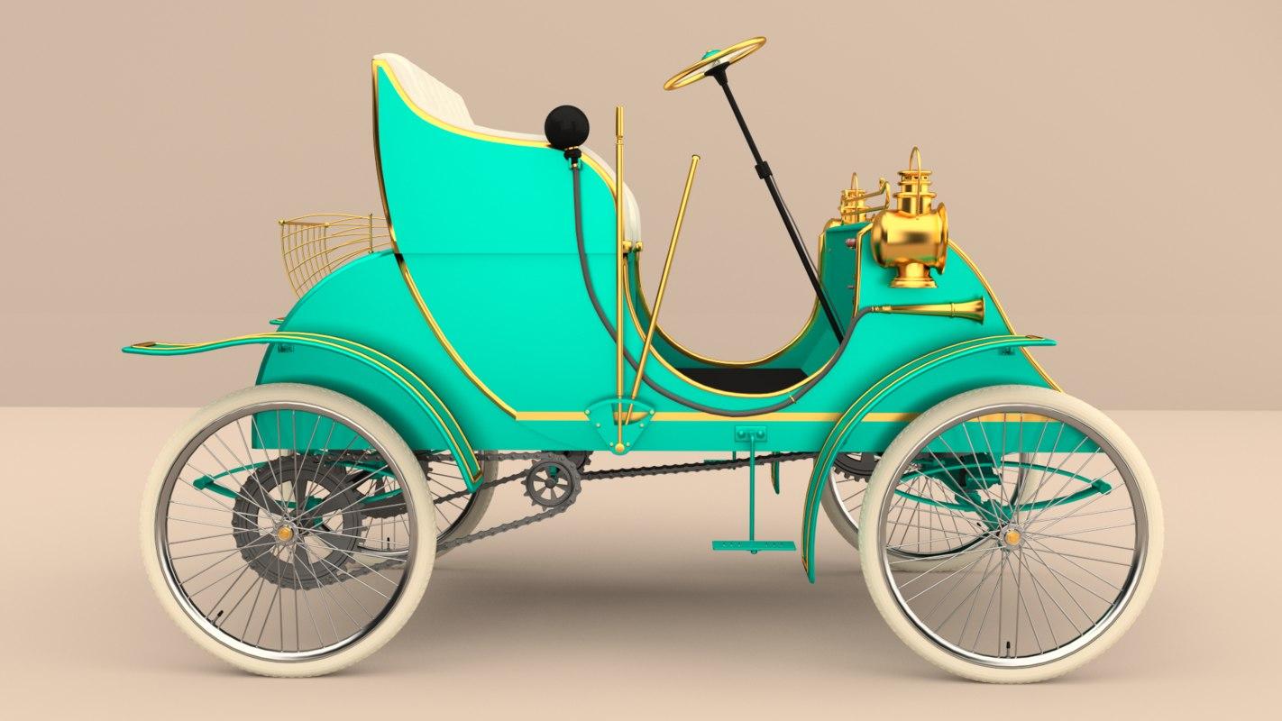 3d model of antique car