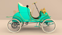 3d model of antique car