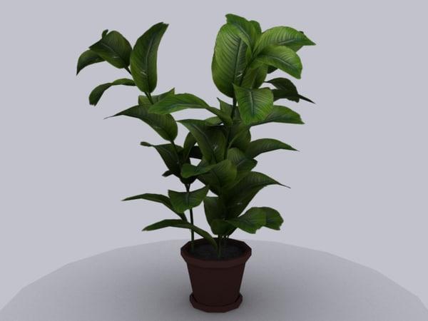 pot tree 3ds